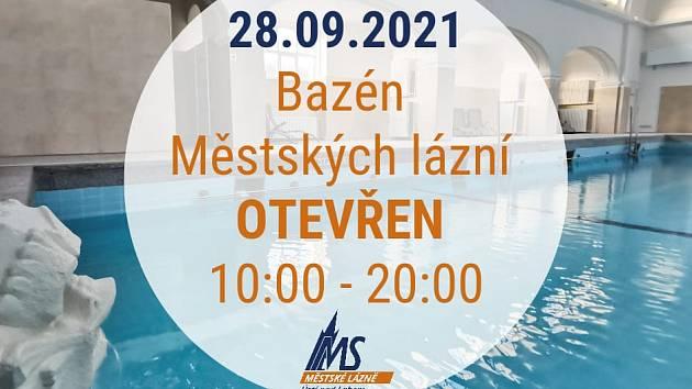 O státním svátku 28. září je bazén Městských lázní v Ústí nad Labem otevřený celý den.