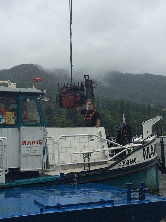 Ústecká loď Marie, výměna motoru