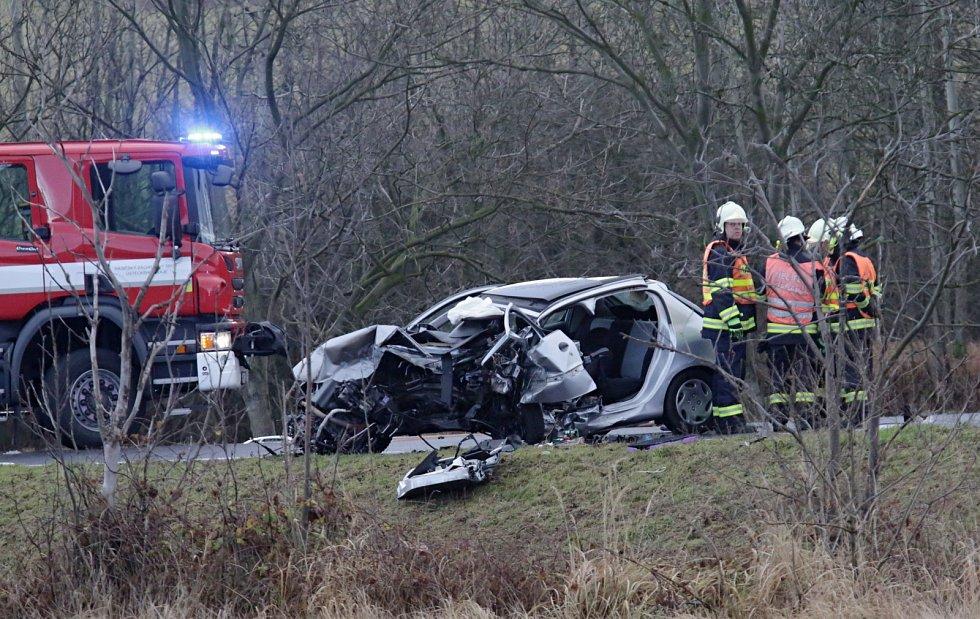 Vážná dopravní nehoda u Libouchce