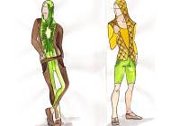 Ananas a kiwi. To je nejoblíbenější ovoce ústeckého studenta oděvního návrhářství Zdeňka Janouška, který postoupil do finále prestižní soutěže společnosti Hamé.