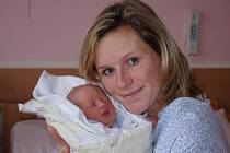 Eva Potyszová, porodila v ústecké porodnici dne 2. 10. 2012 (8.45) syna Petra (50 cm,  3,68 kg).