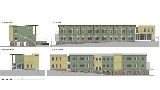 """""""Barevné řešení budovy jsme ještě nevybrali, žlutozelená fasáda je jedna z možností,"""" řekl Lubomír Voleník."""