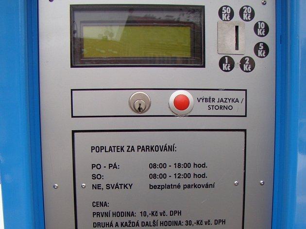 Parkovací automat. Ilustrační foto.