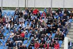 Fotbalisté Ústí nad Labem (v modrobílém) hostili v domácím prostředí Varnsdorf