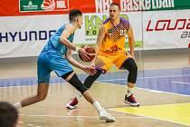 Lukáš Stegbauer v dresu basketbalistů Slunety Ústí nad Labem.
