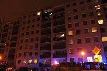Požár balkonu v ulici Anežky České.