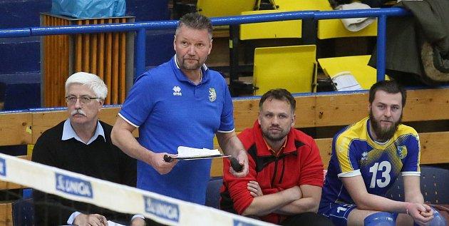 Volejbalový zápas mezi Ústím nad Labem a Odolenou Vodou.