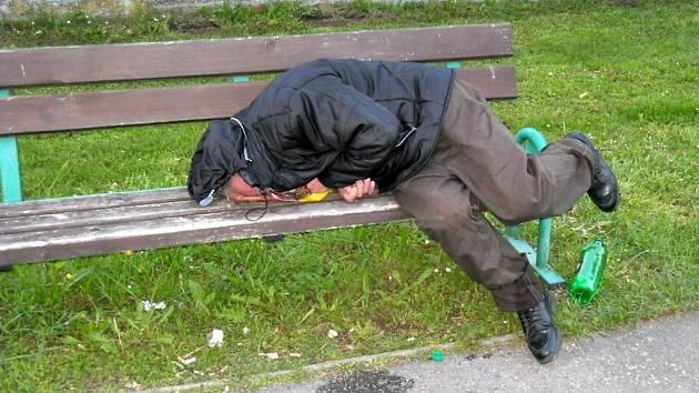 Bezdomovci v Ústí. Ilustrační foto.