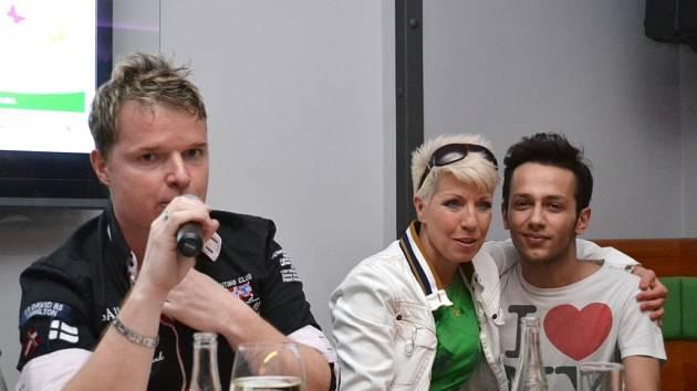 Martin France, Marcela Březinová a Jan Bendig.