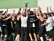 Utkání Silver Bowl mezi Vysočina Gladiators (v bílém) a Ústí nad Labem Blades
