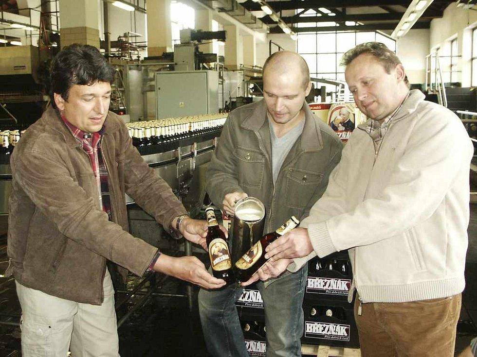 Křest nové pivní lahve