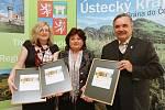 Předávání ceny Zlatý erb obcím a městům za jejich weby v Ústí nad Labem.