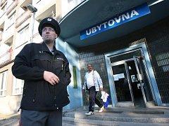 """Ubytovna """"Modrá"""" v Purkyňově ulici."""