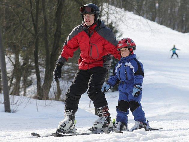 Zadní Telnice - víkendové lyžování.