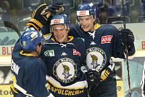 V utkání proti Třebíči (4:3) zvítězili ústečtí hokejisté už potřinácté za sebou a překonali tak klubový rekord v počtu výher v řadě.