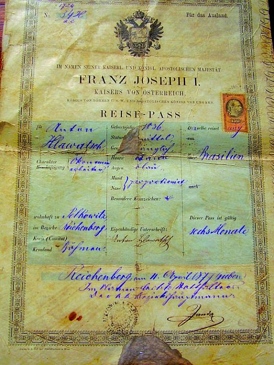 Antonín Hlaváč byl asi jeden z mála česky mluvících Liberečáků, možná už malinko poněmčený, a žil v Sao Bento do Sul ve státě Santa Catarina, kde je spousta Šumavanů a Severočechů a převážně Českých Němců.