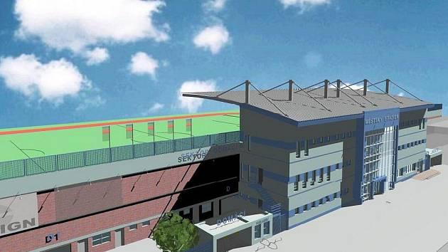 Takto by měla podle projektové dokumentace vypadat nová tribuna.