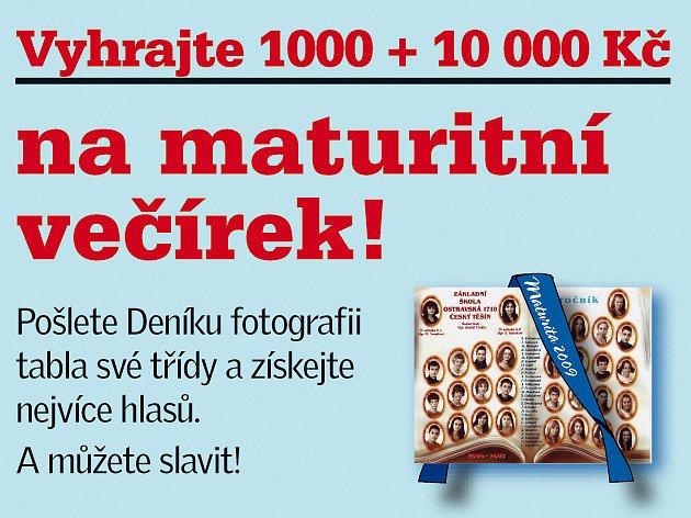Soutěž o 1000 + 10 000 na maturitní večírek!