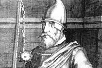 Barokní vyobrazení Jana Žižky jako rytíře.