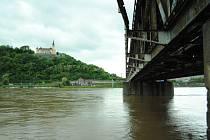 Povodně v Ústí nad Labem, pondělí 3. června 2013.
