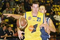 Z basketbalového utkání Ústecké Elby proti Vyšehradu