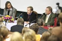 Václav Havel na UJEP.