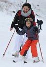 Na sjezdovkách zimního střediska Telnice na Ústecku bylo o víkendu plno.