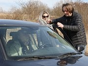 V neděli probíhalo natáčení druhé serie krimiseriálu Rapl v Trmicích.