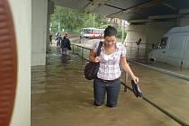 Centrum Ústí nad Labem pod vodou. 12. 8. 2010