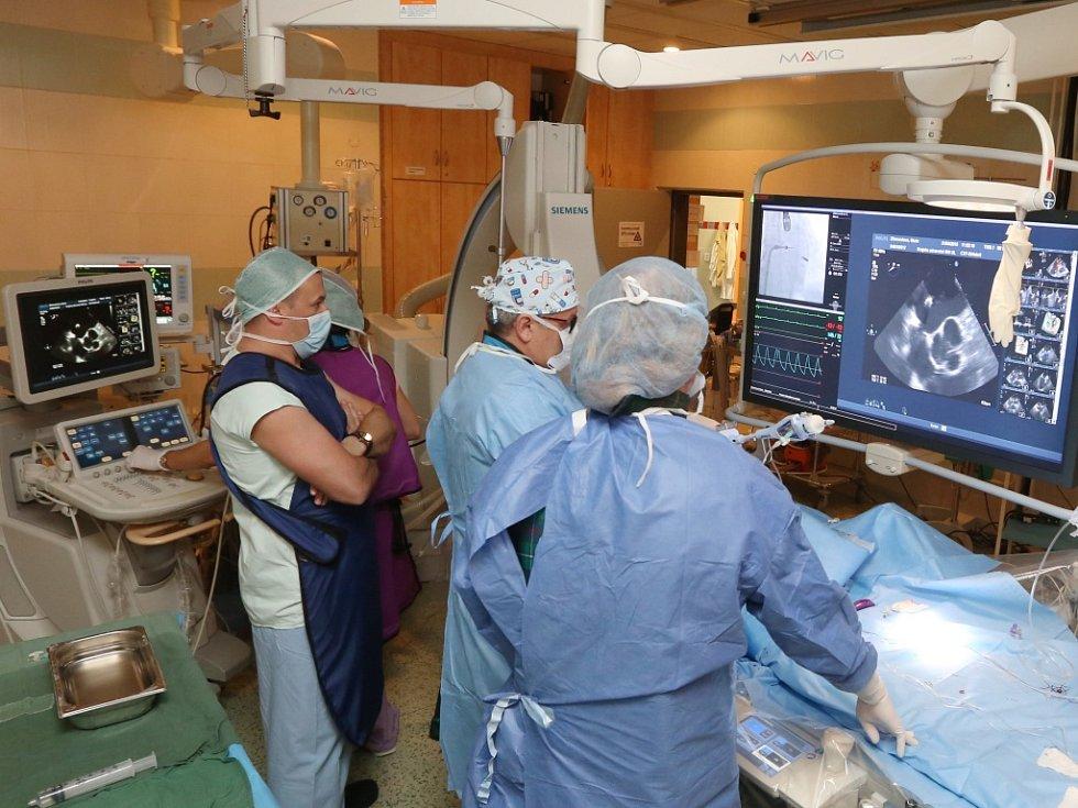 Novou metodu katetrizační operace nedomykavé srdeční chlopně zavádějí na Kardiologické klinice Masarykovy nemocnice.