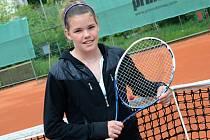 Další mladou tenisovou nadějí pro Ústí je dvanáctiletá Vendy Žižková.