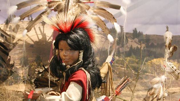 Výstava Indiáni Severní Ameriky v ústeckém muzeu.