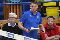 Zleva šéf ústeckého klubu Miroslav Přikryl a trenér týmu Petr Brom.