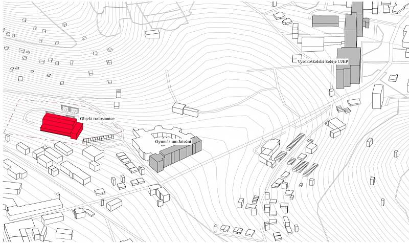 Nový depozitář ústeckého muzea má vzniknout z opuštěné rozvodny v ulici U Lanovky.