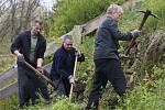 Odsouzení vězni z Litoměřické vazební věznice pracovali také na rekultivaci parkánů na vinohrad v Úštěku