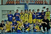 Basketbalisté Slunety Ústí n. L. v kategorii U13 na turnaji v Děčíně.