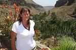 Ilona Vápeníková z Chotiněvsi v Palmitos Park na Kanárských ostrovech. Vidět zde můžete botanickou zahradu, motýlí farmu i expozici orchidejí. Skutečnou atrakcí je show cvičených papoušků.