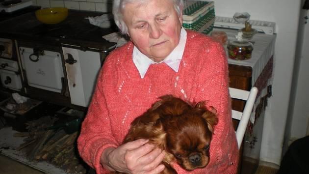 Chovatelka Miluše Musilová se svým psem Kevinem.