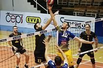 Ústecký kapitán Jakub Ulč (č. 18) zažívá další utrápenou sezonu.