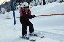 První lyžování na Telnici.