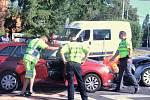 Nehoda na křižovatce Hilarovy a Na Spojce v Ústí
