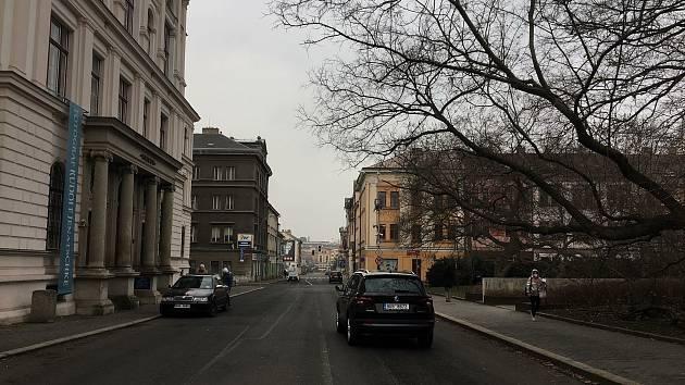 Ústí nad Labem - Brněnská u muzea.