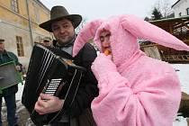 Prvním letošním masopustem na Ústecku byl v sobotu ten v Homoli u Panny.
