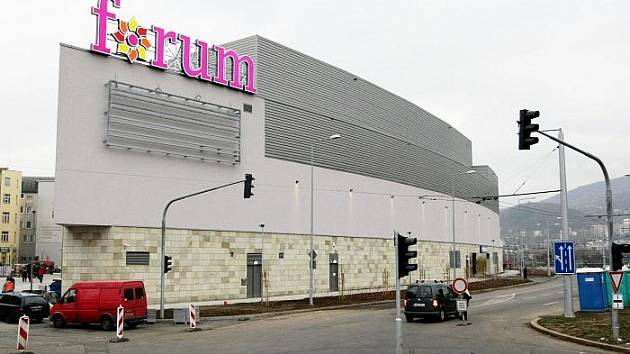 Dostavěné Forum.