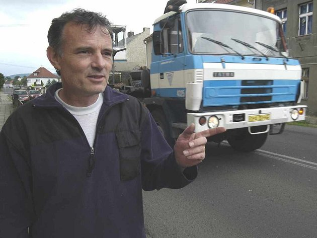 kamiony v Chabařovicích obtěžují místní obyvatele