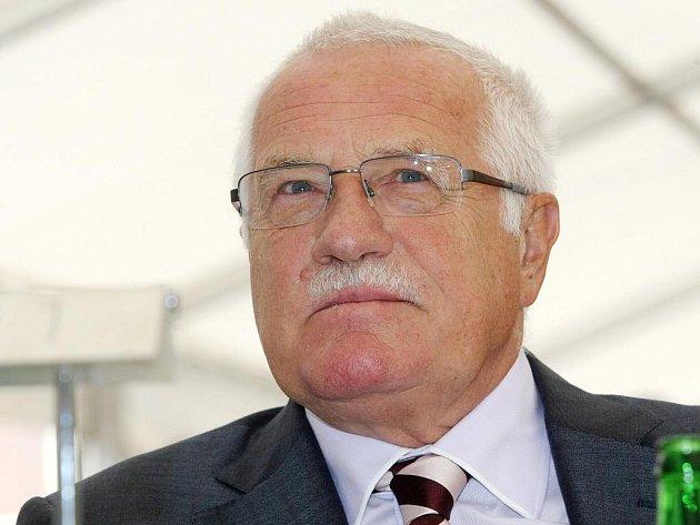 Prezident ČR Václav Klaus.