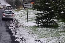 Na konci dubna napadl v Krušných horách sníh.