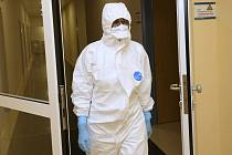 Speciální stanice infekčního oddělení ústecké nemocnice pro lidi s podezřením na koronavirus