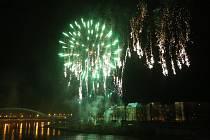 Novoroční ohňostroj v Ústí nad Labem 2019
