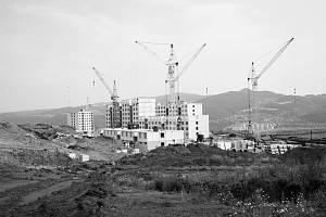 Výstavba sídliště Severní Terasa